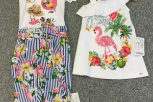 kleurrijke meisjeskleding